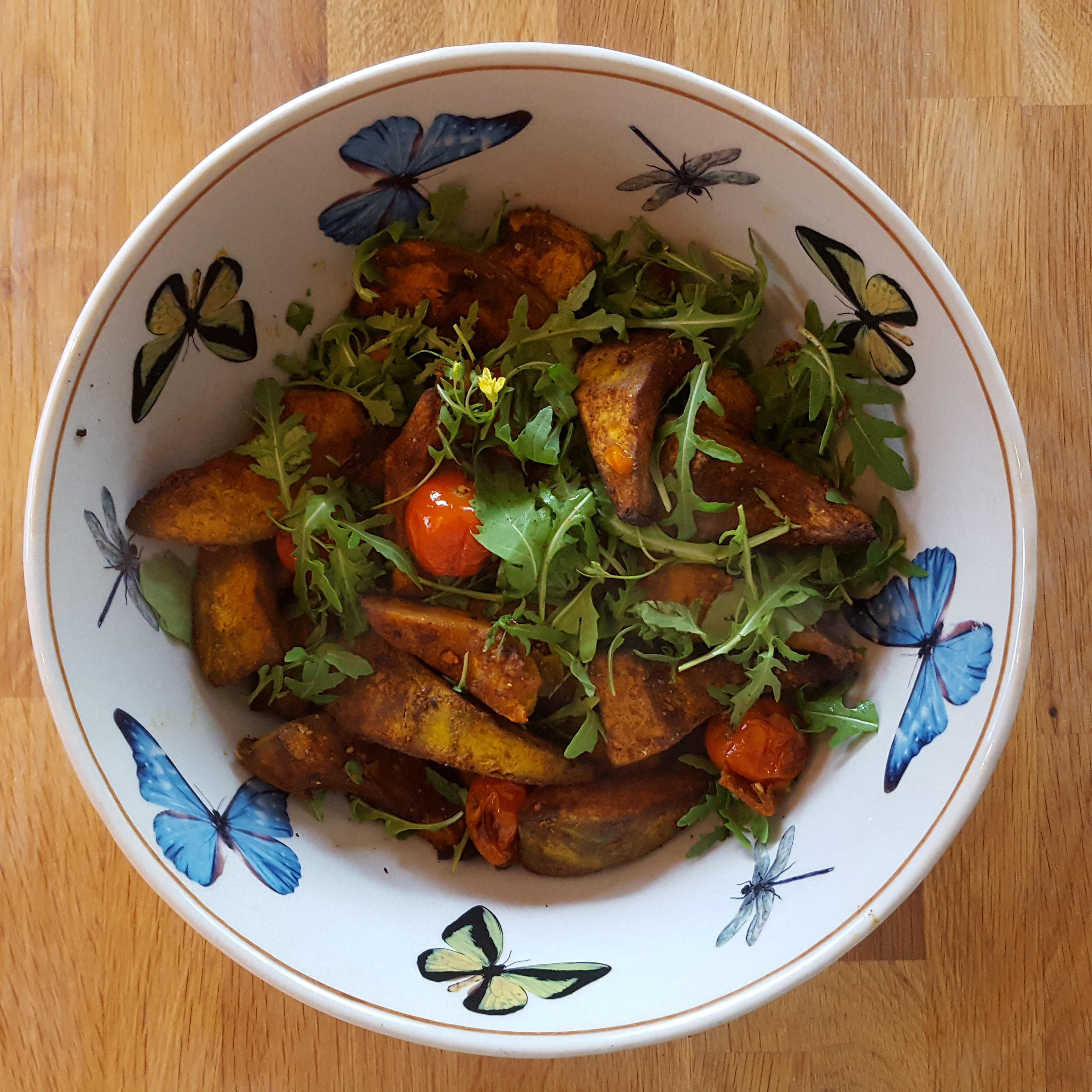 Tossing the squash and rocket