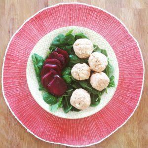 Almost Raw Tuna and Butterbean Balls