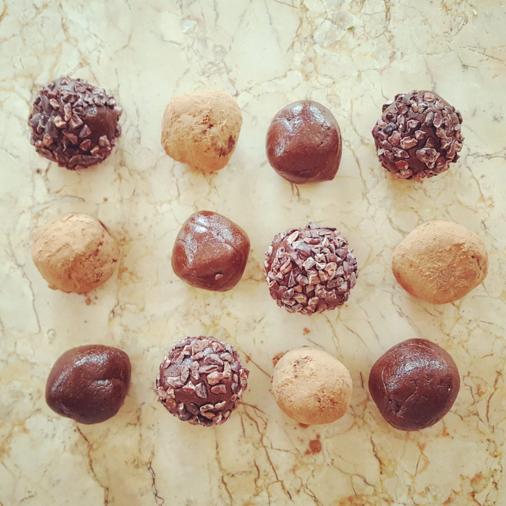 Minty Maple Date Balls