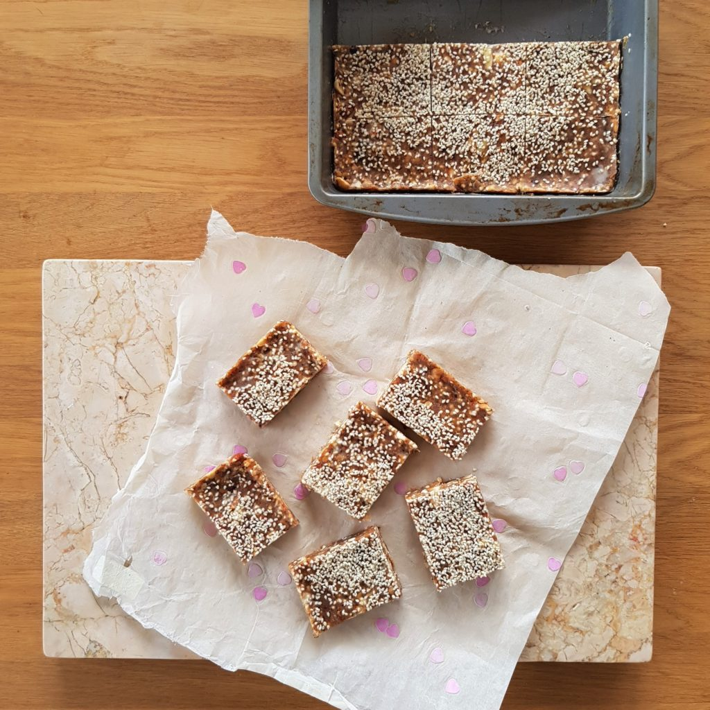 Nutty peanut buttery squares
