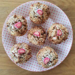 Oaty Rhubarb Muffins