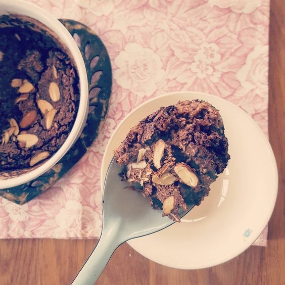 Chocolate coconut baked porridge