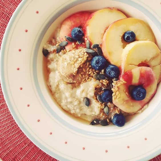 Sweet fresh peachy porridge