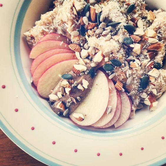 Tropical buckwheat breakfast bowl